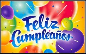 felicitacion de cumpleaños con letras